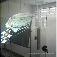 Transparent holographic film for window shop dispay